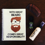 Load image into Gallery viewer, mens beard themed customised notebook
