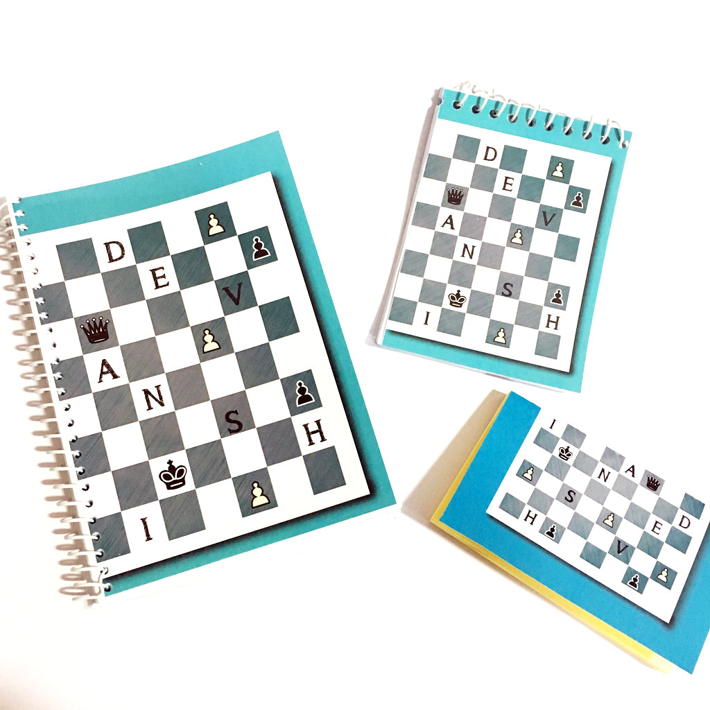 chess themed customised notebook