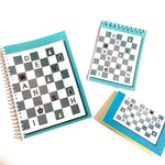 Load image into Gallery viewer, chess themed customised notebook