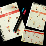 Load image into Gallery viewer, badminton themed customised notebook
