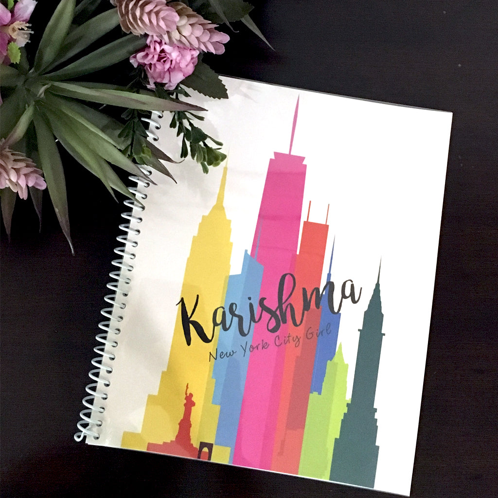 new york themed customised notebook