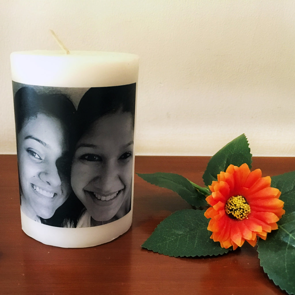best friend gift photo candle