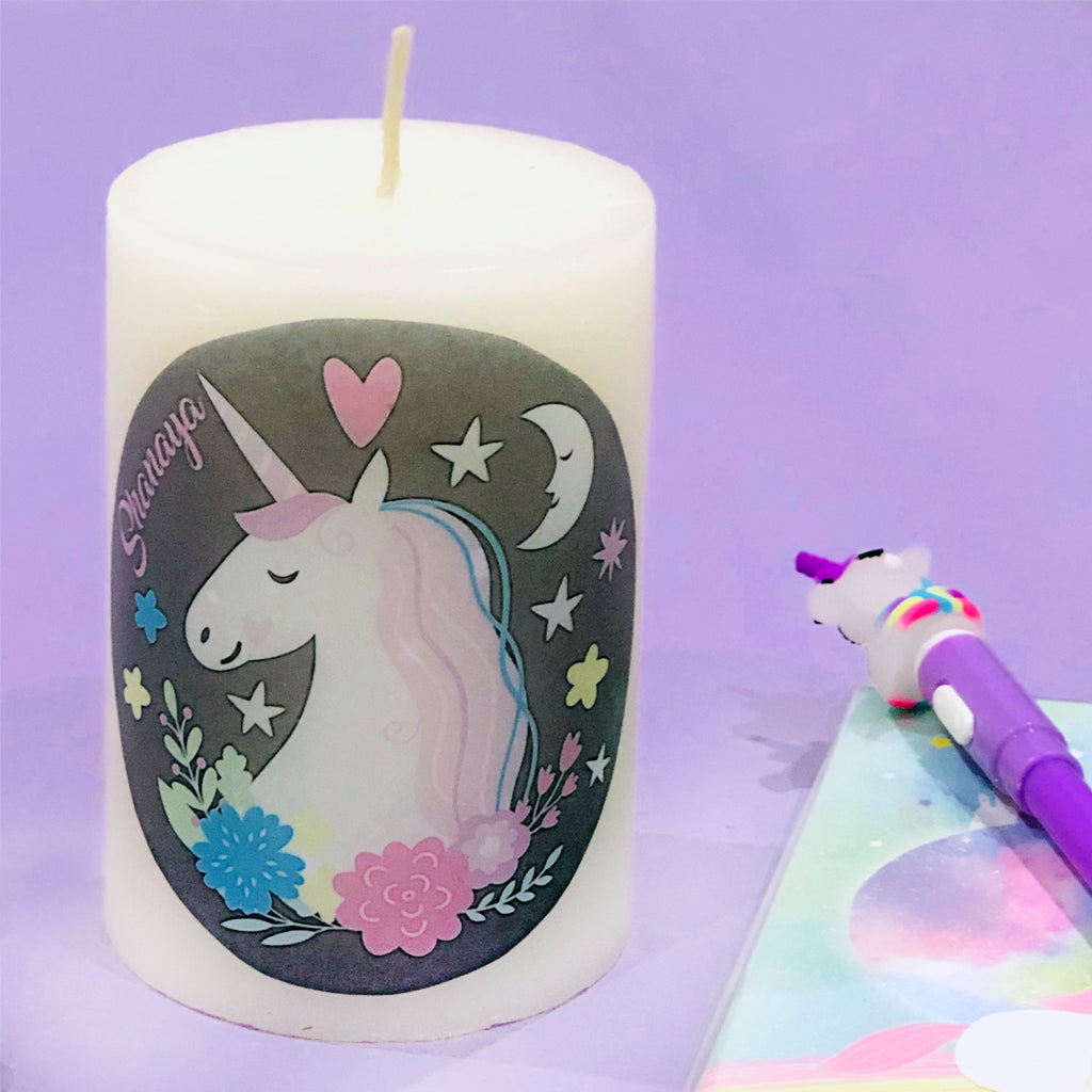 kids gift photo candle