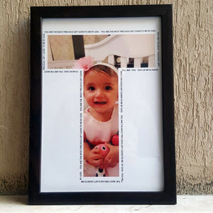 personalised letter frame for kids