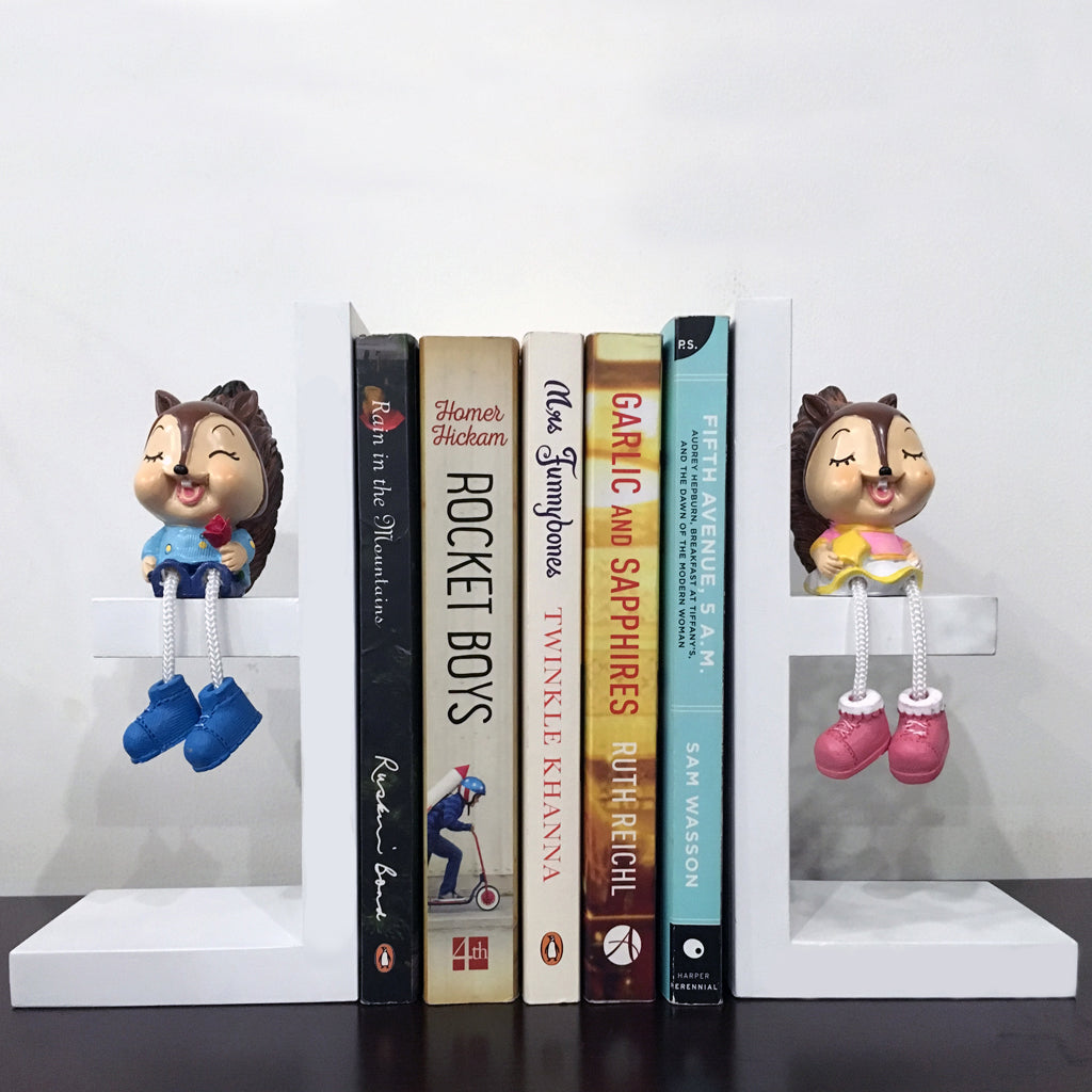 squirrel bookends for kids nursery