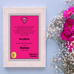 Load image into Gallery viewer, supermom certificate for mothers day gift