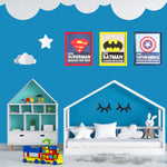 Load image into Gallery viewer, Kids room decor superhero theme