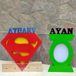 Load image into Gallery viewer, personalised superheroes nameplate for kids