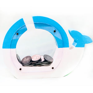 whale design nautical piggy bank