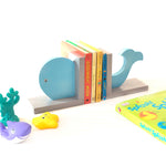 Load image into Gallery viewer, whale bookend for kids