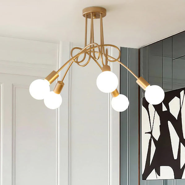 Lustre Suspension Doré <br> Sostioni