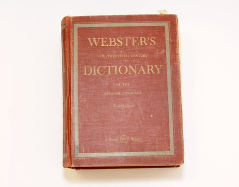 Vintage Webster's Dictionary