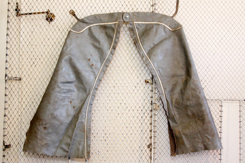Grey Leather Chaps