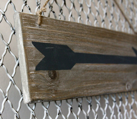 Fir Wood Arrow Sign