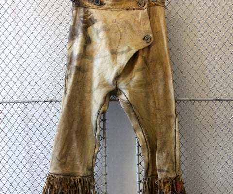 Buckskin Pants with Antler Buttons