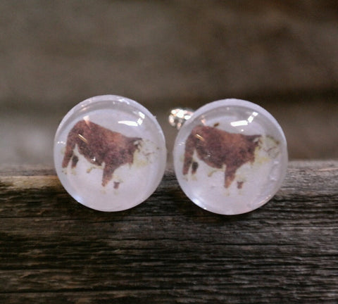 Hereford Cow Cufflinks