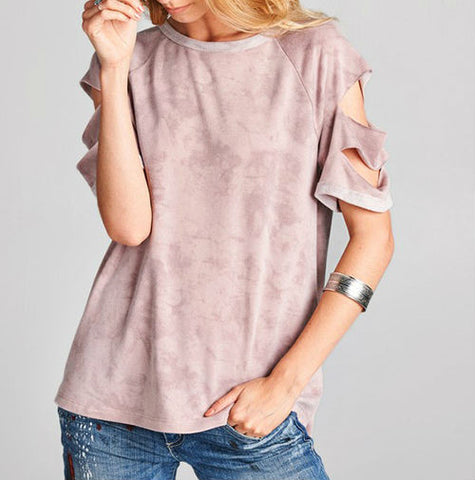 BLOUSE: Mauve Slasher Top