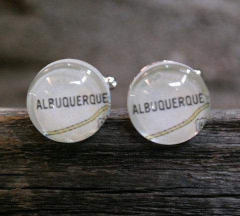 Albuquerque Map Cufflinks