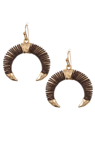 Bull Horn Earrings