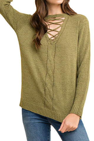 SWEATER: Crisscross Sweater
