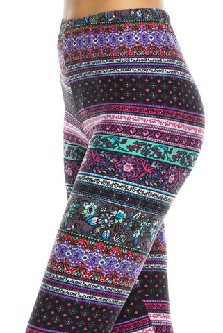 LEGGINGS: Kaleidoscope Mixed Print Leggings