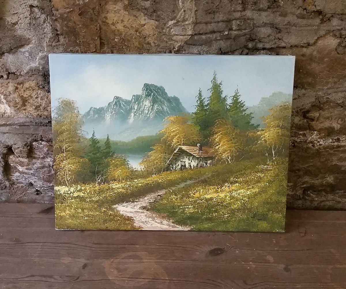 Mountain House Oil Painting