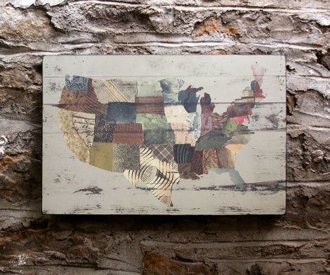 United States Collage Wall Art
