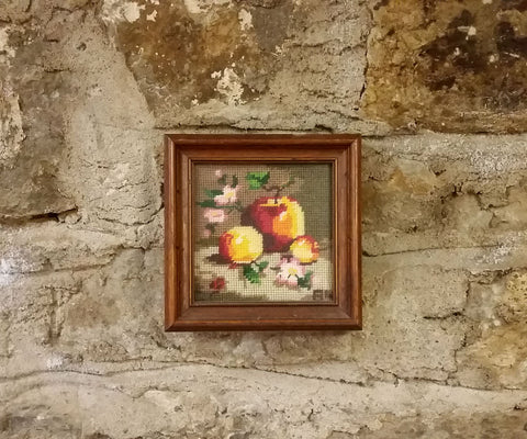 Vintage Cross Stitch Still Life