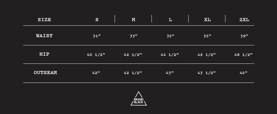 Size Chart for HADRIAN