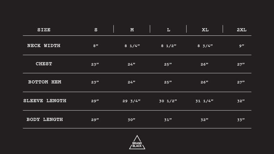 Size Chart for FUTURE LEGEND LOW