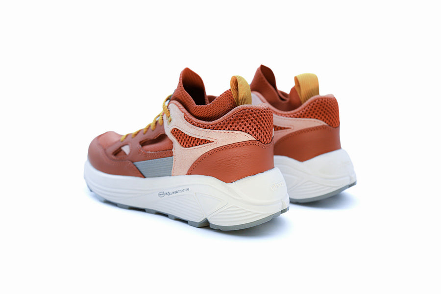 Men's Aura Coral Pink Grey