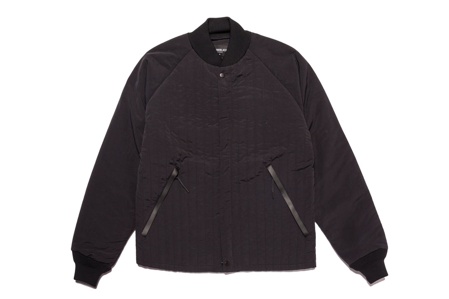 Quilted Tech Jacket Black