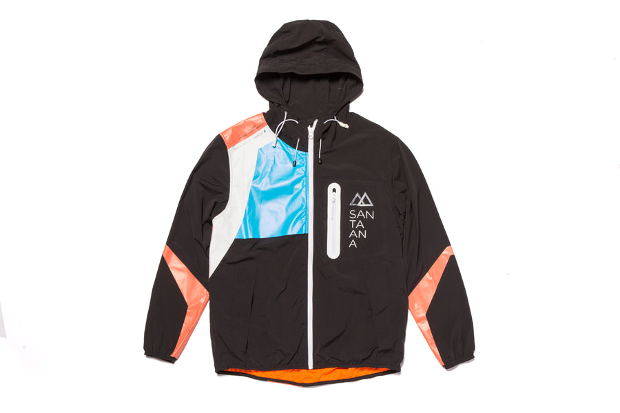 Tech Jacket Hoodie Black Cranberry Orange