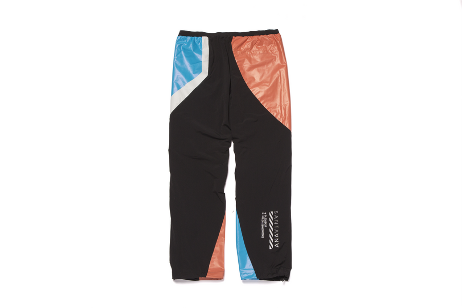 Tech Pant Black Cranberry Orange