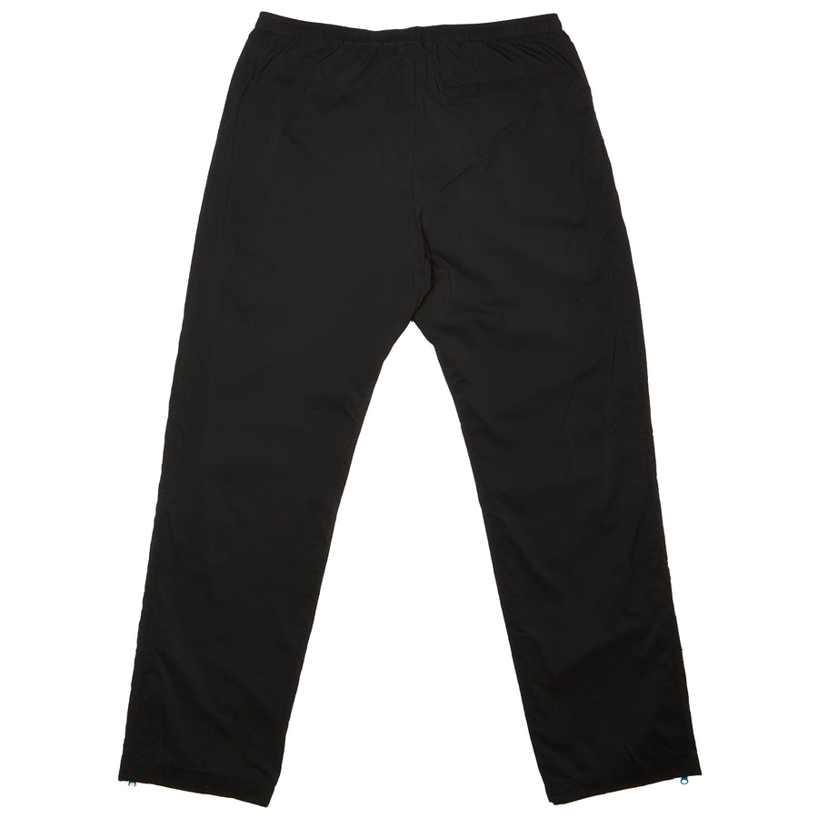 Nylon Track Pant with Piping Black Blue