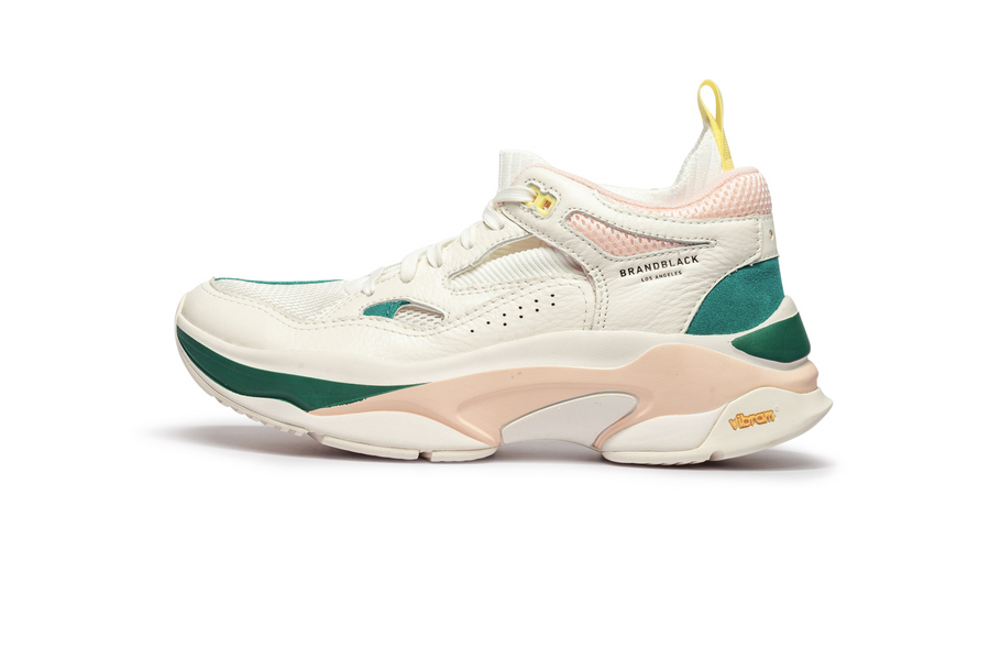 Men's Saga White Green Pink