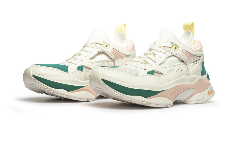 Women's Saga White Green Pink