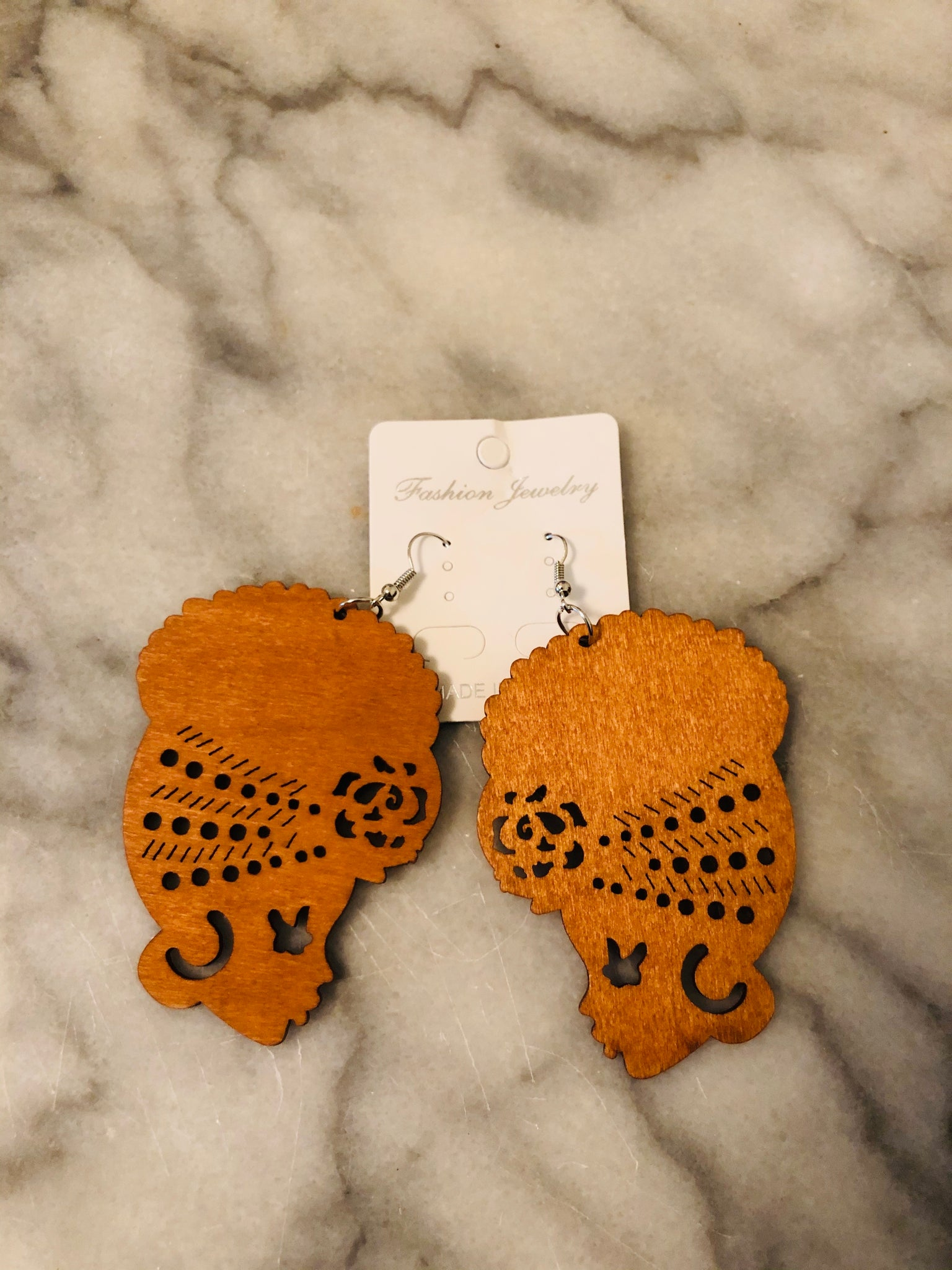 Wood Silhouette Earrings