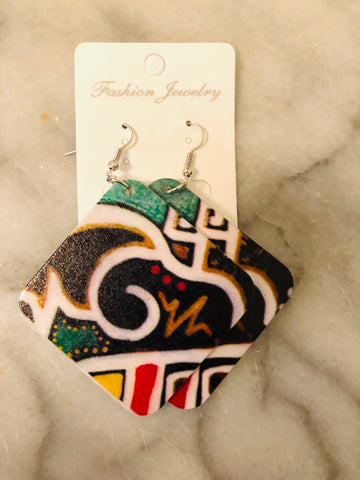 Square Shaped Artistic Earrings
