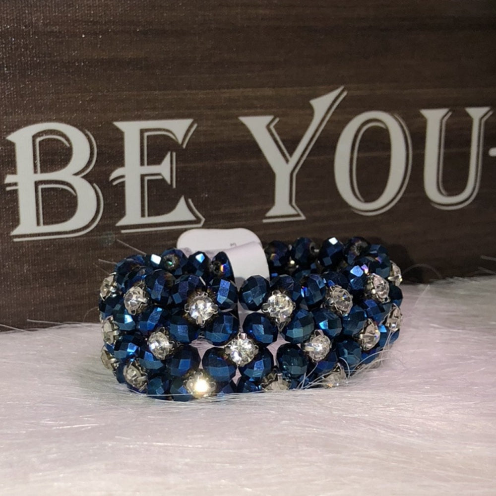 Crystal Stretch Bracelet Royal Blue