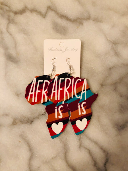 Unique Africa Shaped Earrings