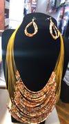 African Design Earring & Necklace Set