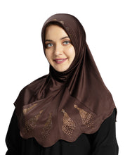 Load image into Gallery viewer, Mehar Hijab Modest Fashion Women's Hijab with Glittering Stone Design Stylish iCRA Feel Good Fabric Meharban Hijab Cocco