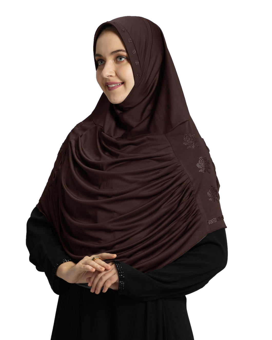 Mehar Hijab Modest Fashion Women's Hijab with Glittering Stone Design Stylish iCRA Feel Good Fabric Aasimah Hijab Cocco Media 1 of 1