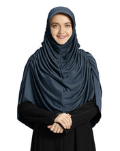 Load image into Gallery viewer, Mehar Hijab's Modest Women's Designed Fleeted Stylish iCRA Feel Good Fabric  FAHEEMA GREY HIJAB