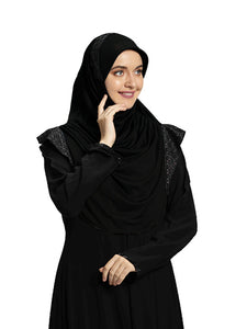 Black shade Hijab Naaz Modestly stylish mehar Hijab collection online