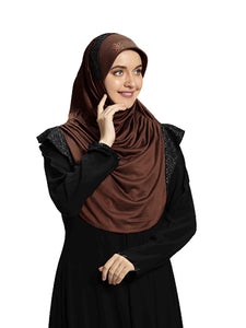 Dark Coffee shade Hijab Naaz Modestly stylish mehar Hijab collection online
