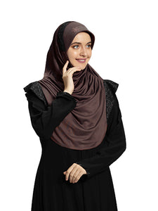 Coffee shade Hijab Naaz Modestly stylish mehar Hijab collection online