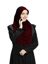 Load image into Gallery viewer, Maroon shade Hijab Naaz Modestly stylish mehar Hijab collection online