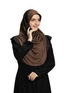 Mehar Hijab Modest Fashion Women's Stylish Instant frill Hijab Naaz
